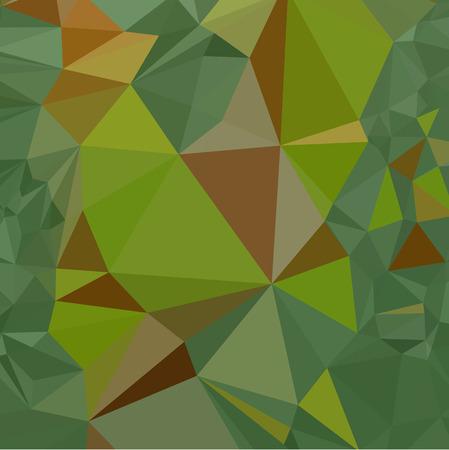 dark pastel green: Low polygon style illustration of dark pastel green abstract geometric background.