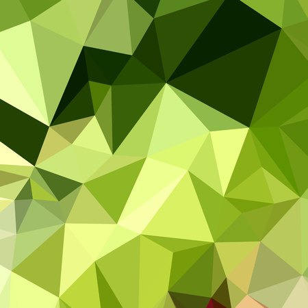 lime green: Low polygon style illustration of electric lime green abstract geometric background.