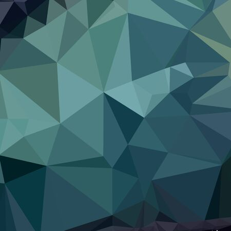 metallic seaweed: Low polygon style illustration of metallic seaweed green abstract geometric background.