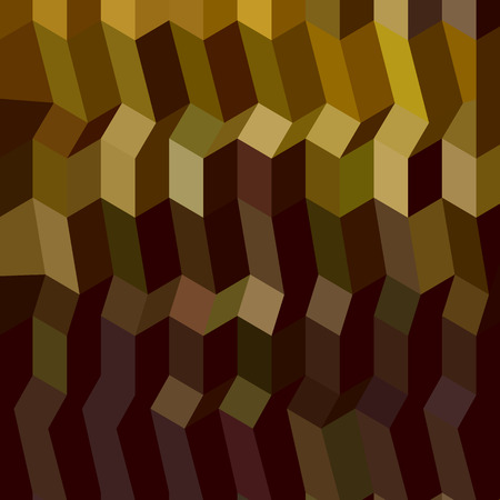 caput: Low polygon style illustration of caput mortuum brown abstract geometric background. Illustration