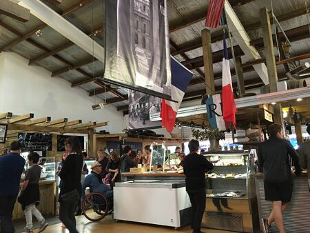 growers: AUCKLAND,JUNE 4: Food lovers gather to buy and taste top quality products from both New Zealand artisan producers and growers and from overseas at the La Cigale French Market in Auckland, New Zealand on June 4, 2016.