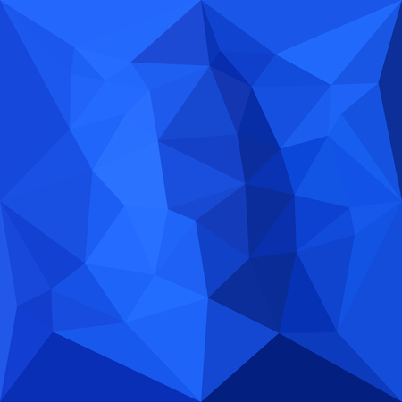 azul marino: Low polygon style illustration of a bright navy blue abstract geometric background.