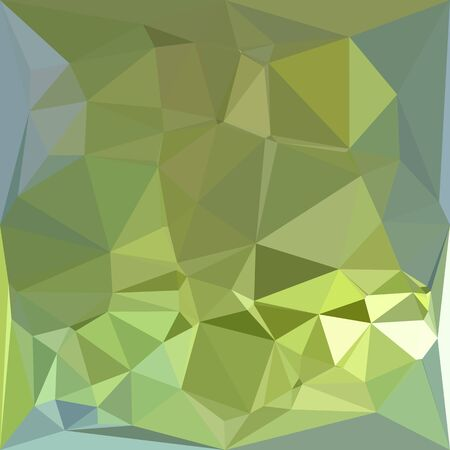drab: Low polygon style illustration of a olive drab abstract geometric background.