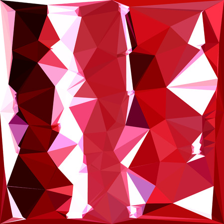 bard: Low polygon style illustration of a barn red abstract geometric background.