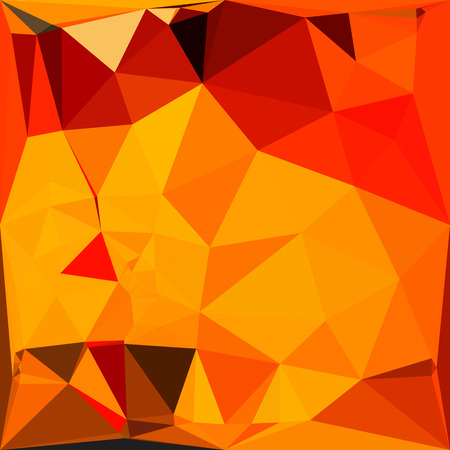 cadmium: Low polygon style illustration of a cadmium yellow abstract geometric background.