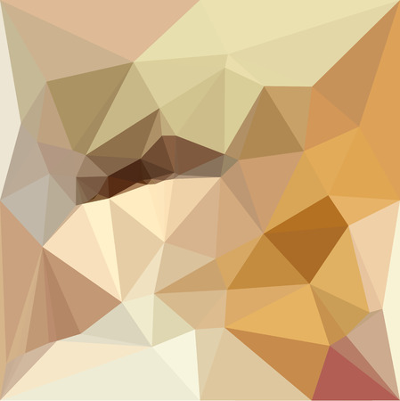 Low polygon style illustration of a corn yellow beige abstract geometric background. Vector Illustration