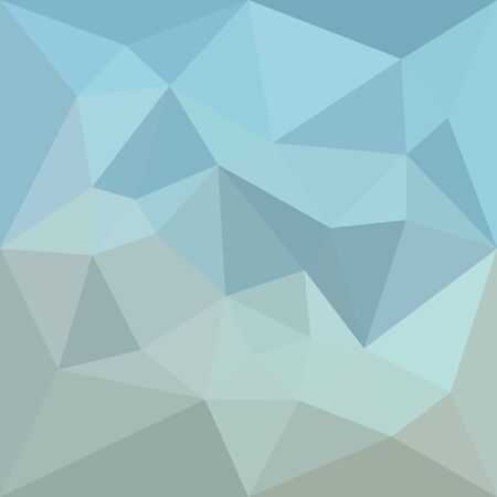 Low polygon style illustration of a cadet blue orange abstract geometric background. Stock Illustratie