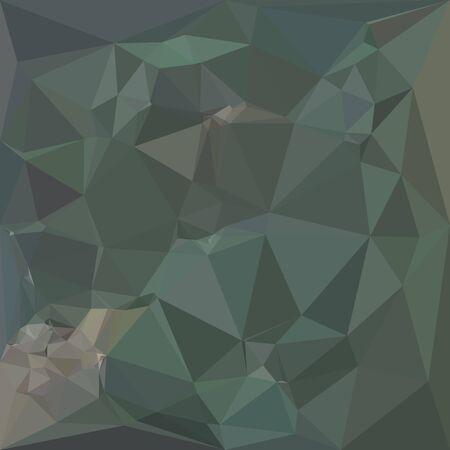 forme geometrique: Illustration de style polygone faible d'un fond géométrique abstraite de la mer verte. Illustration
