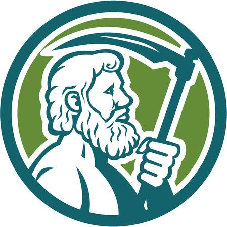 Illustration Of Cronus Or Kronos Greek God And Leader Of Titans