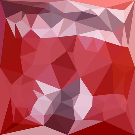 violet red: Low polygon style illustration of a pale violet red abstract geometric background. Illustration