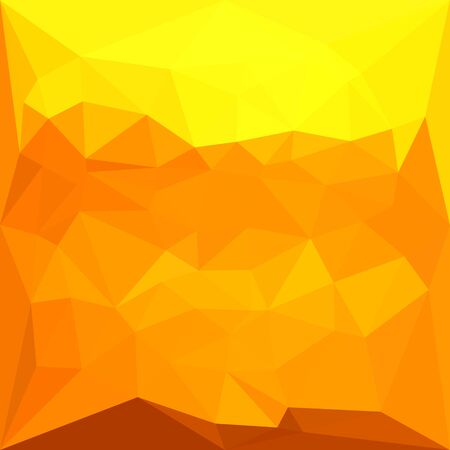 yello: Low polygon style illustration of a cyber yellow abstract geometric background. Illustration