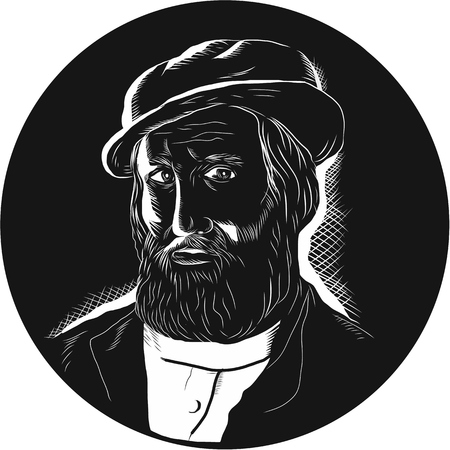 Illustration of Hernan Cortes de Monroy y Pizarro Altamirano
