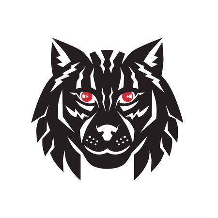 Illustration of a Lynx head retro style.