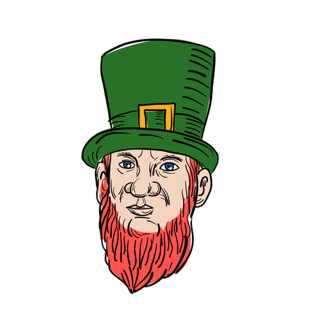 Illustration of a leprechaun.