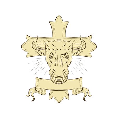 Illustratie van hoofd van de taurus.