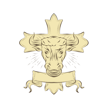 Illustration of head of taurus.
