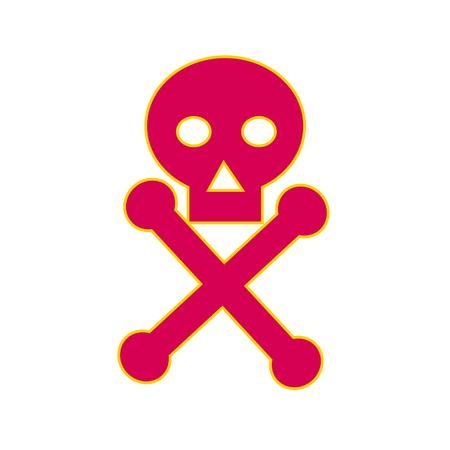 일반적으로 위험의 경고로 사용되는 독 기호 아이콘, 두개골 및 이미지 기호, 특히 독성 물질에 관한 그림.