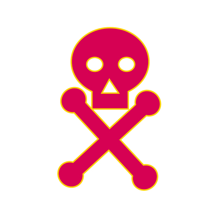Illustration of a Poison Symbol icon, the skull-and-crossbones symbol , generally used as a warning of danger, particularly in regard to poisonous substances. Illustration