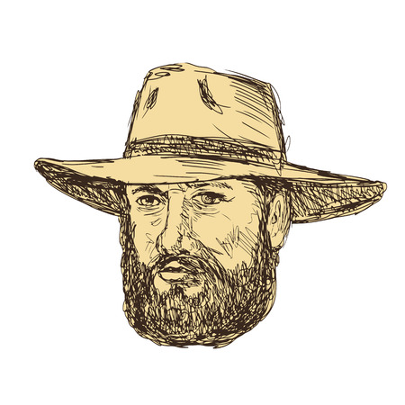 Drawing sketch of a man.