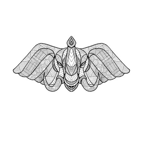 象の頭の曼荼羅図。  イラスト・ベクター素材