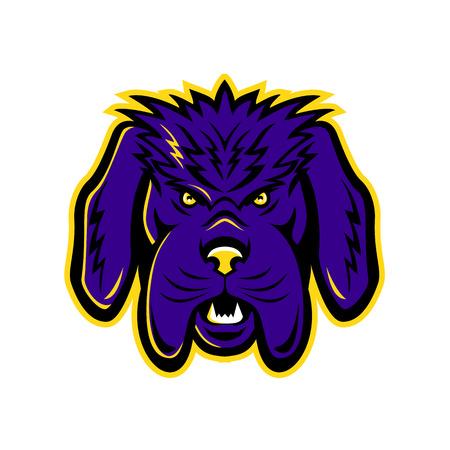 Mascot icône illustration de la tête d & # 39 ; un chien et le bas de colère Banque d'images - 99256522