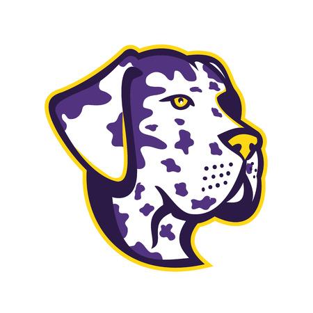Mascot icône illustration de la tête d & # 39 ; une grande hydra Banque d'images - 99256528
