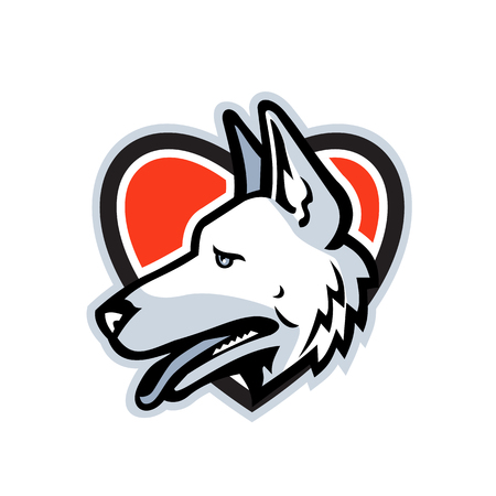 Mascot icon of head of a German Shepherd