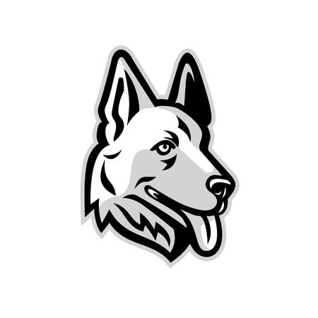 Mascot icon of a German Shepherd Vettoriali