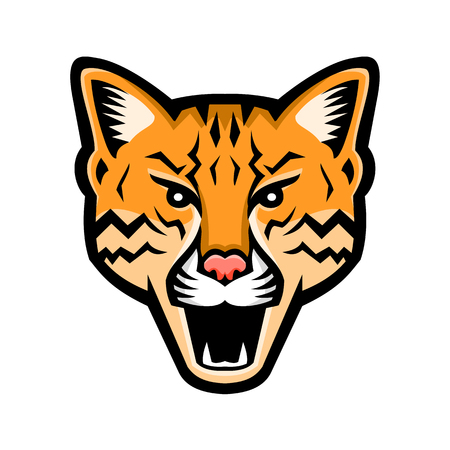 Sports mascot icon of an Leopard Illustration