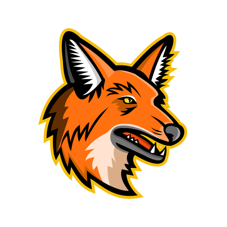 Sports mascot icon of a maned wolf Illustration