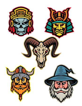 Mascot icon set