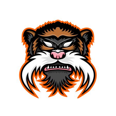 Mascot icon of an emperor tamarin