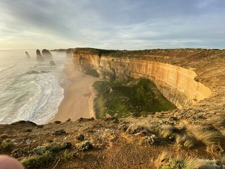 Photo of the Twelve Apostles, limestone rock stacks at Port Campbell National Park, on the Great Ocean Road, near Melbourne, Victoria, Australia
