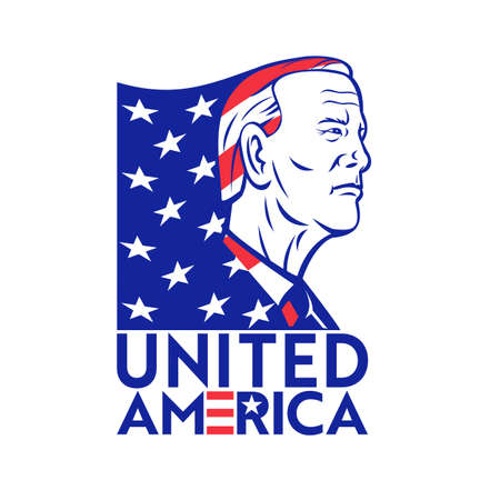 Nov 9, 2020, AUCKLAND, NEW ZEALAND: Illustration of American Democrat and 46th president elect Joseph Robinette 'Joe