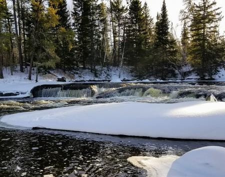 Freezing rapids Stock fotó