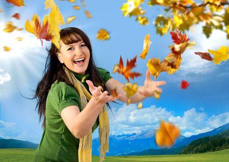 joyful autumn Stock Photo - 5305030