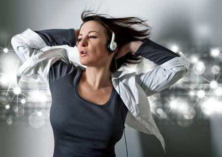 earphones: girl listening to supersoundmusic
