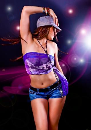 dancing club: hot girl dancing in the disco