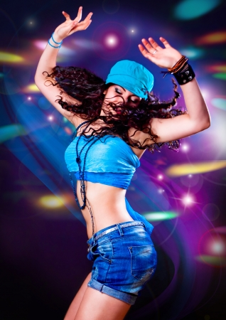 nightclub: dancing girl hot in discoteca