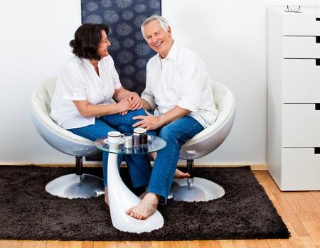 attracitve senior couple in love photo