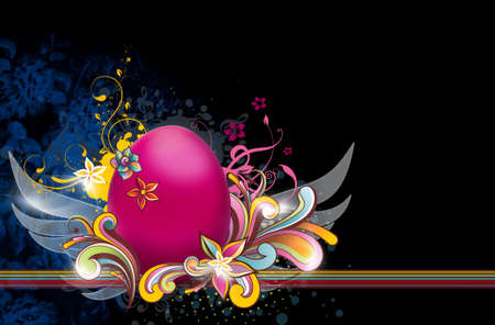 colorful easter egg with vector-design Stock Photo - 14052805