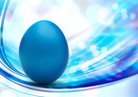 blue egg: colorful easter egg in blue Stock Photo