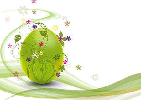 easteregg: easter egg with modern design and flowers Stock Photo