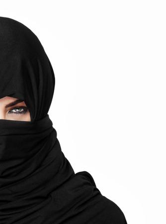 burqa: Beautiful girl wearing a burqa