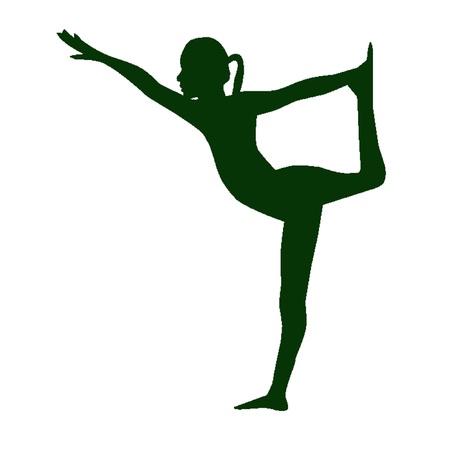 Yoga silhouette woman Stock Vector - 20368261
