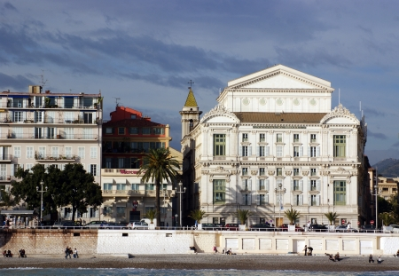 costal: costal view on the bay of Nice, Promenade des Anglais , France