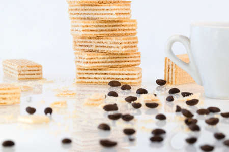 Handmade cookies with a cup of coffee