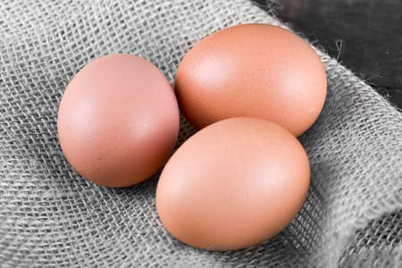 Fresh country eggs collected straight from the hen, easter