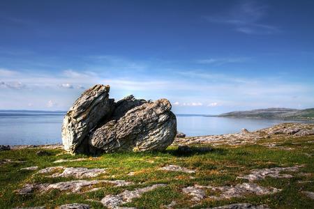 burren: Burren stone, Irish coast Stock Photo