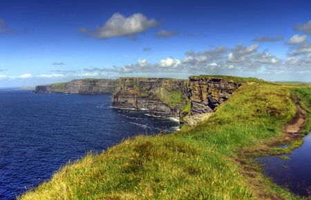 moher: Cliffs of Moher - highest cliffs in Europe Stock Photo